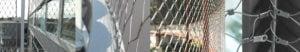 Afbeeldingen van gebruik RVS staalkabelnetten voor diverse toepassingen