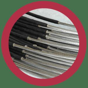 Afbeelding RVS staalkabels als dilatatiesysteem