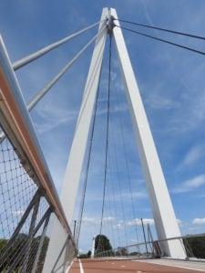 Snelle fietsverbinding Dafne Schippersbrug met RVS staalkabelnetten