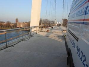 Aanvang montagewerkzaamheden RVS staalkabelnetten Dafne Schippersbrug