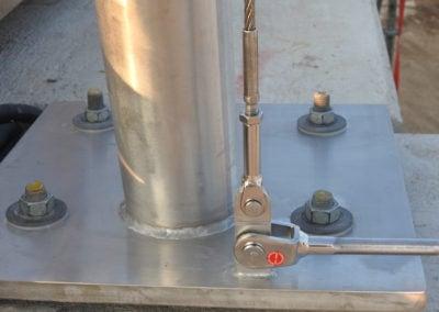 Afbeelding Detail aansluiting RVS randkabels Dafne Schippersbrug