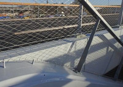 RVS staalkabelnetten verwerkt in trap zuidkant Maximabrug