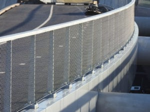 Lange lijnen horizontale mazen Maximabrug