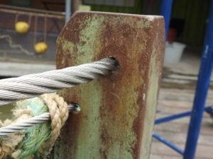 Afbeelding detail RVS staalkabel 16mm mangrove-verblijf Burgers Zoo