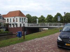 RVS staalkabels verwerkt in brug Saakstra's Brêge Franeker door Hans Jansen Staalkabels