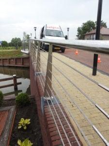 Afbeelding RVS staalkabels Saakstra's Brêge Franeker als spandraadsysteem