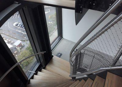 Amstelkwartier RVS staalkabelnet trap 12